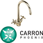 View Item Carron Phoenix Victoria Brass Kitchen Sink Mixer Tap